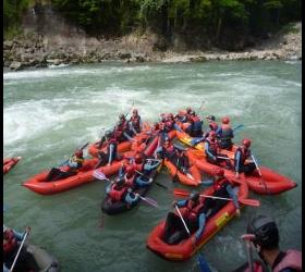 Wildwasser-Rafting-Kanutour auf der Bregenzerache Adventure Sports