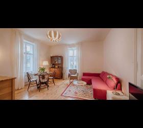 Apartment mit Gartenblick