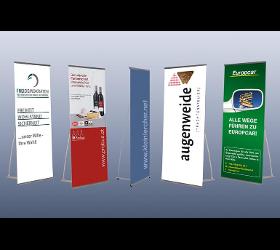 Displays, Banner, Bannerdisplay, Faltdisplay, Werbewand, Messewand