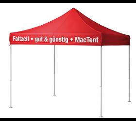 Faltzelt MacTent gut & günstig – in 2 Minuten einsatzfertig, Aluminiumstruktur 45mm Hex