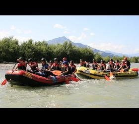 Wildwasser Rafting Sommer
