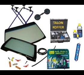 Autoglas - Werkzeuge - Klebematerialien