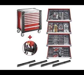 Facom Werkstattwagen JET+4 mit 8 Schubladen und 15 Werkzeugmodulen