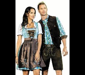 Famos Trachtenbekleidung Spezial-Lederhose ohne Träger mit Gürtel