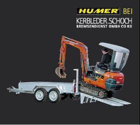 Verkauf und Service von Humer Anhänger in Vorarlberg - Baumaschinenanhänger