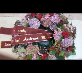 Trauerfloristik Trauerbinderei Blumen