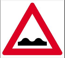 Verkehrszeichen Querrinne oder Aufkleber